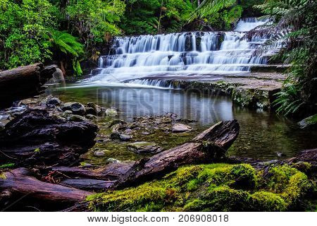 Liffey Falls State Reserve At The Midlands Region Of Tasmania, Australia..