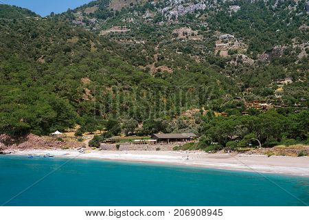 Idyllic seascape. Incredible seascape. Turkey. Bird's eye view