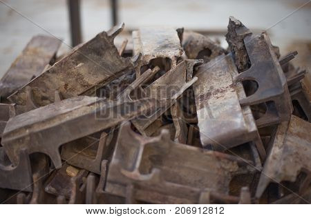 The Molten Elements Of The Grate Firing. Parts Of The Industrial Firebox