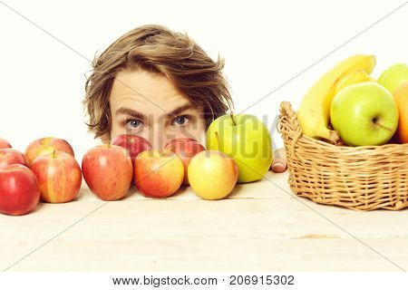 Man And Apples