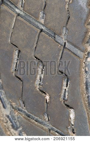 tread on the wheel . Photo of abstract background