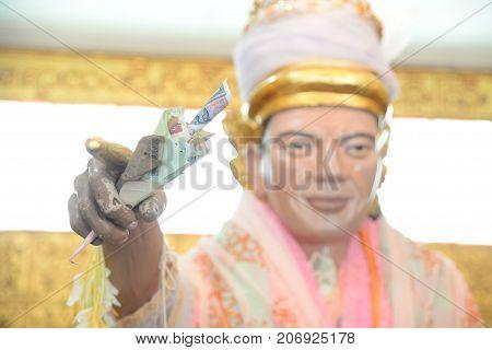 Nat bobo Gyi in Botahtaung Pagoda of Yangon Myanmar. This is public place