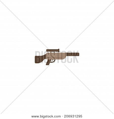 Flat Icon Sniper Rifle Element. Vector Illustration Of Flat Icon Shotgun Isolated On Clean Background