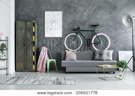 Bike With Pink Wheel