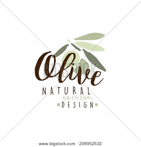 Image is an olive oil logo with words natural written underneath. The image is on a white background.