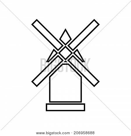 Windmill It Is Black Icon .