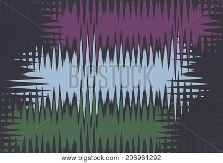 abstract background with three spiky shapes on black