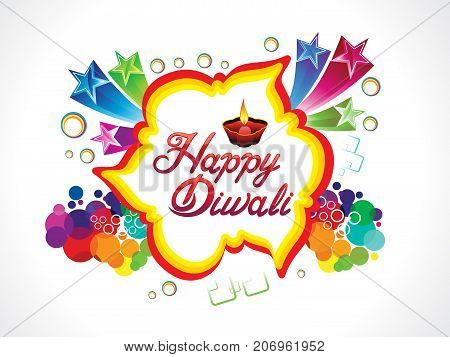 abstract artistic creative diwali explode vector illustration