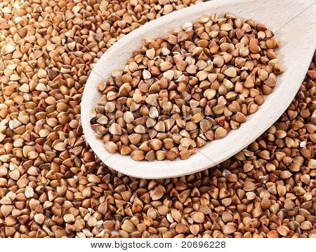 Buckwheat On The Spoon