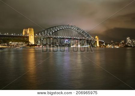 Sydney harbour view from the docks