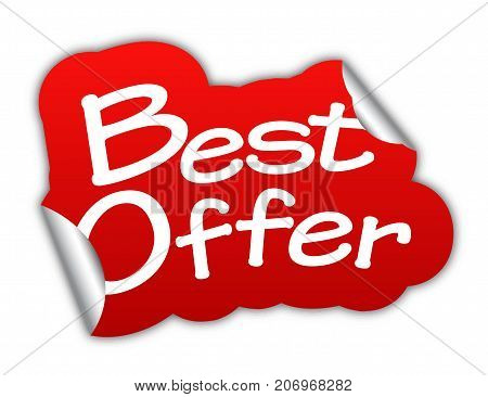 best offer sticker best offer red sticker best offer red vector sticker best offer best offer eps10 design best offer sign best offer