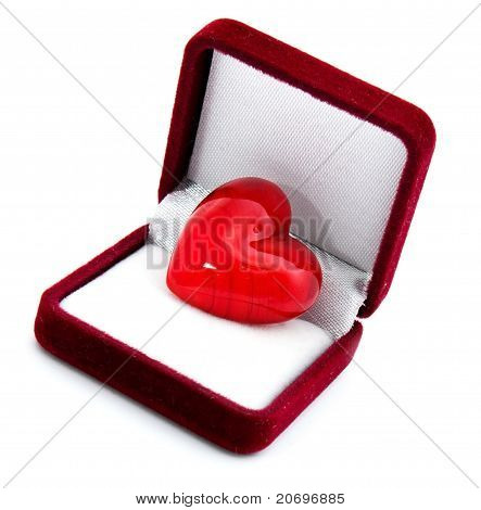 Heart In The Red Gift Box