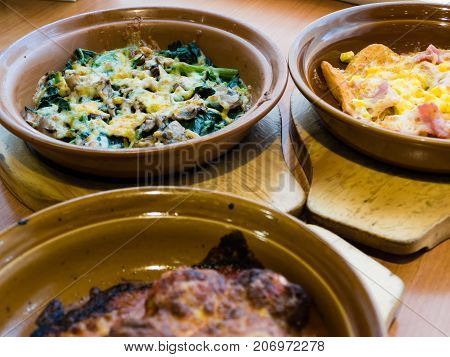 Mushroom And Spinach With Melted Cheese
