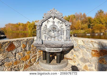 source of water in the village of Buki Ukraine October 11 2014