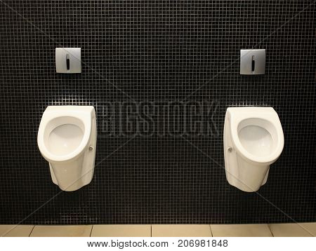 Men toilet for men, pissoir on wall