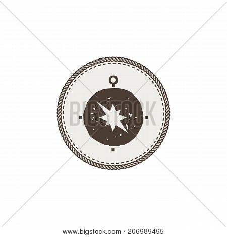 compass icon, sticker. Adventure symbol and patch. Stock vector illustration. Isolated on white background.