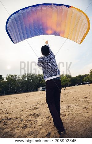 Adventurer, With Tension, Control A Kite, Paraglider
