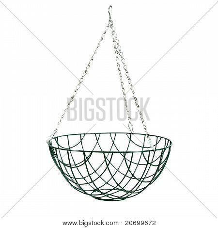 Hanging Basket Isolated On White
