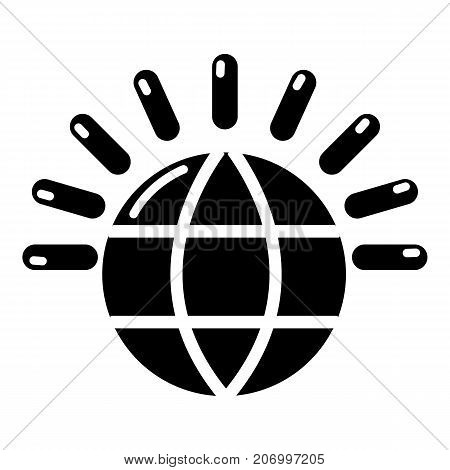 Global communication icon. Simple illustration of global communication vector icon for web