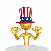 The Original 3D Character Illustration Uncle Sam poster