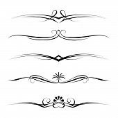 Vector set of decorative elements, border and page rules frame poster