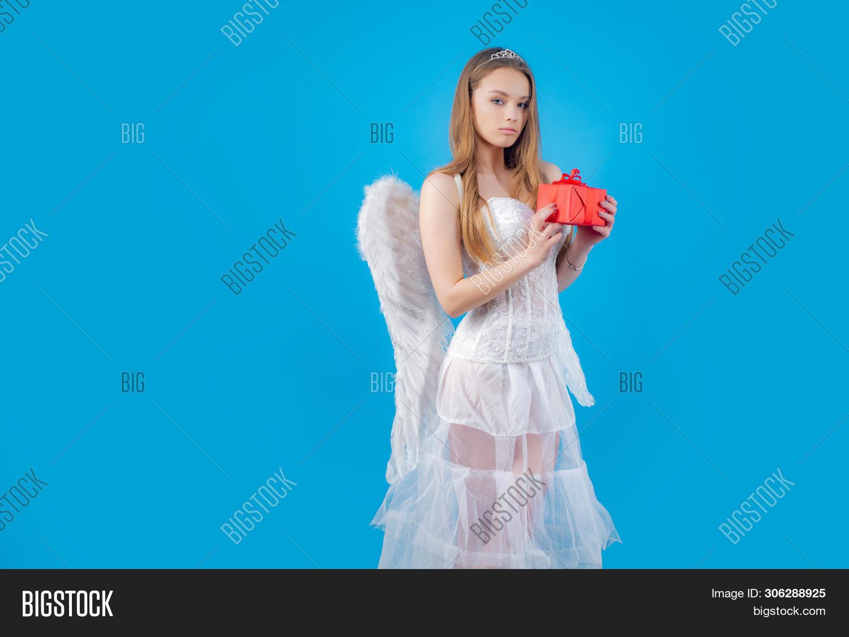 Innocent Girl Angel Image Photo Free Trial Bigstock