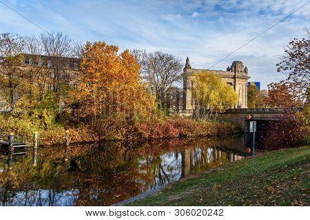 Charlottenburg Gate Or Charlottenburger Tor On Landwehr Canal In Berlin. Germany