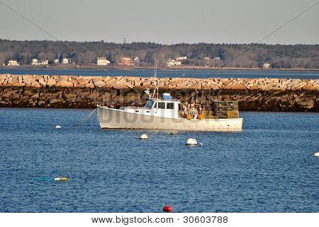 Lobster Boats Docked