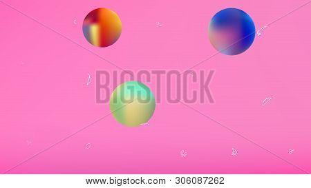 Breezy Space Fantasy. Background Texture, Light. Liquid Colorific Illustration.  Pink Colored Backgr