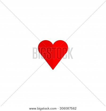 Heart Icon Red Isolated With White Background. Heart Icon Art. Heart Icon Eps. Heart Icon Image. Hea