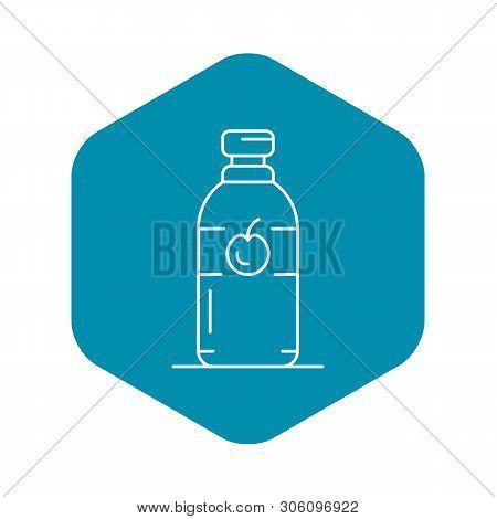 Kitchen Apple Vinegar Icon. Outline Kitchen Apple Vinegar Vector Icon For Web Design Isolated On Whi