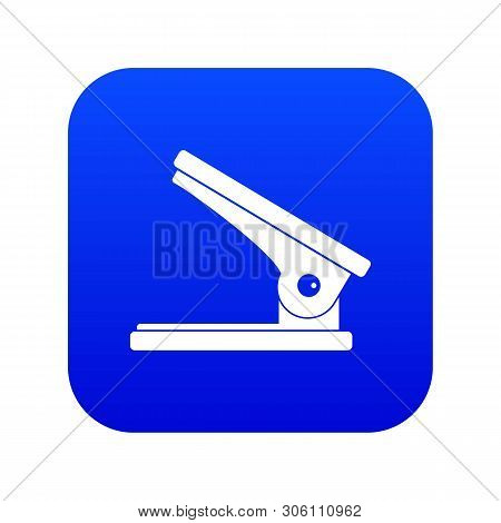 Office Paper Hole Puncher Icon Digital Blue For Any Design Isolated On White Vector Illustration