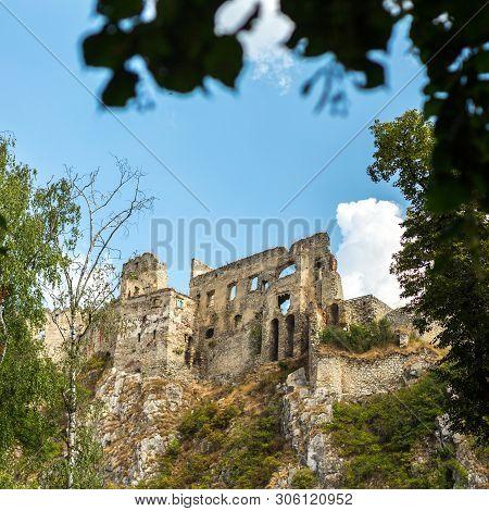 Beckov, Slovakia - August 03, 2015;  Castle In Beckov - Slovakia.