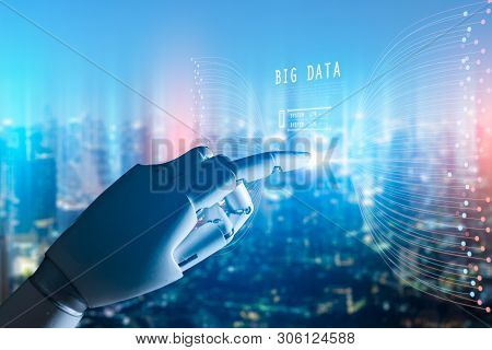 Artificial Intelligence , Robot Finger,robo Advisor ,big Data, Robotic Future Technology And Busines