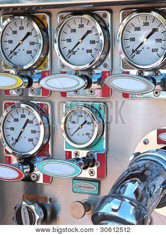 Instrument Panel On Fire Engine