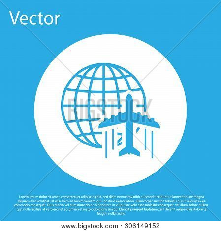 Blue Globe Flying Vector & Photo (Free Trial) | Bigstock