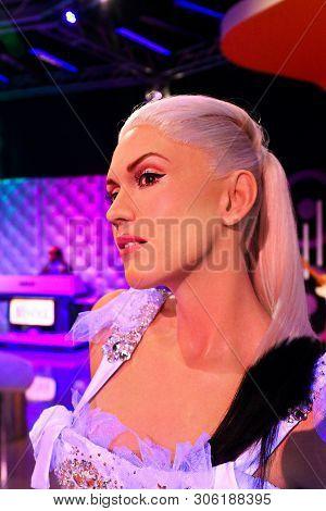 Las Vegas,nv/usa - Oct 09, 2017: Gwen Stefani, An American Singer, Songwriter, Fashion Designer, Act