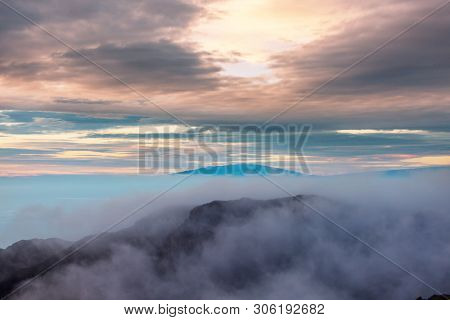Mauna Kea mountain  in Hawaii