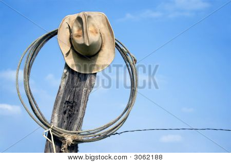 Lasso And Cowboy Hat