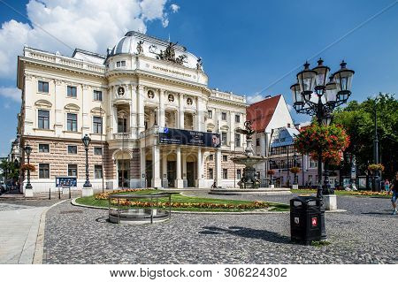 Bratislava, Slovakia. 04 August 2015. Slovak National Theater Old Building. Was Built In 1885-1886 A