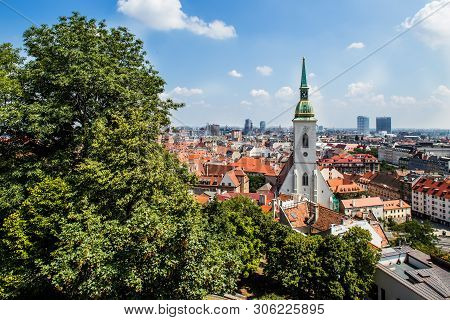 Bratislava, Slovakia. 04 August 2015. St. Martin Church In Bratislava. Place Where Slovak Kings Were