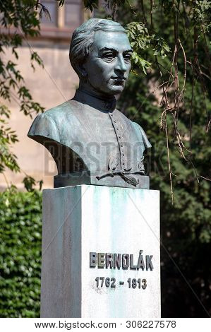 Bratislava, Slovakia. 04 August 2015. Anton Bernolak Sculpture (1762 - 1813). Slovak Linguist And Ca