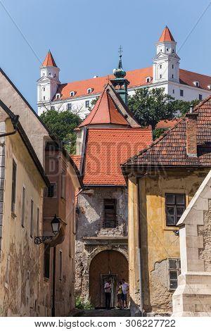 Bratislava, Slovakia. 04 August 2015. Old Castle View From Old City In Bratislava, Slovakia.