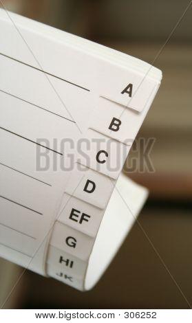 Letter-index