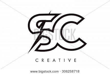 Sc Letter Logo Design Vector Photo Free Trial Bigstock