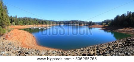 Jenkinson lake panoramic view in California