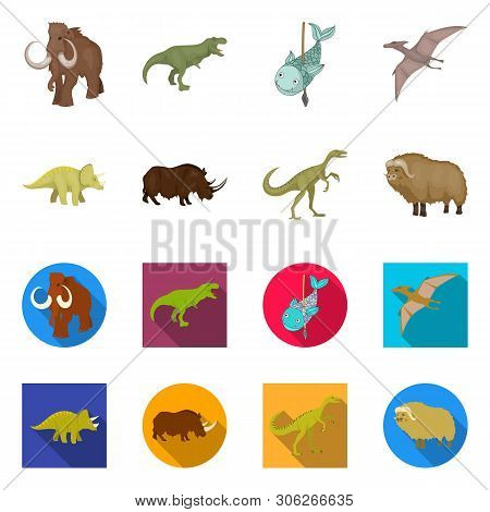 Vector Design Of Animal And Character Symbol. Collection Of Animal And Ancient  Stock Vector Illustr