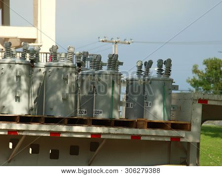 Storm Damage Repair Transformers by the truck loads are needed to restore power to 380K homes in the Dallas Metroplex.