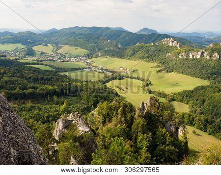 Sulov Rocks, Sulovske Skaly National Nature Reserve In Slovakia, Slovak Republic. Beautiful Place Fo