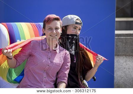 Sofia, Bulgaria - June 08, 2019: Sofia Pride Is The Biggest Annual Event Dedicated To The Equality A